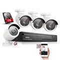 ANNKE 4CH NVR 960 P 1.3MP PoE Red IP NVR Sistema de Cámaras de Video Vigilancia de Seguridad CCTV kit de bricolaje con 1 TB de DISCO DURO