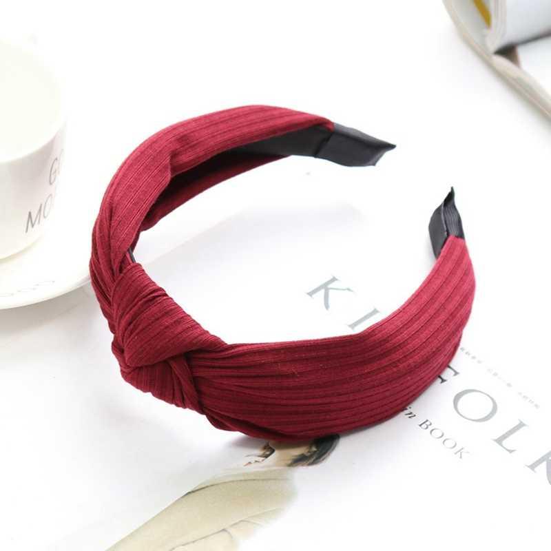 Узел Крест Tie Solid 1 предмет модные лента для волос ободок для волос в рубчик с бантом для девочек обруч для волос аксессуары бархат перекрученная повязка на голову