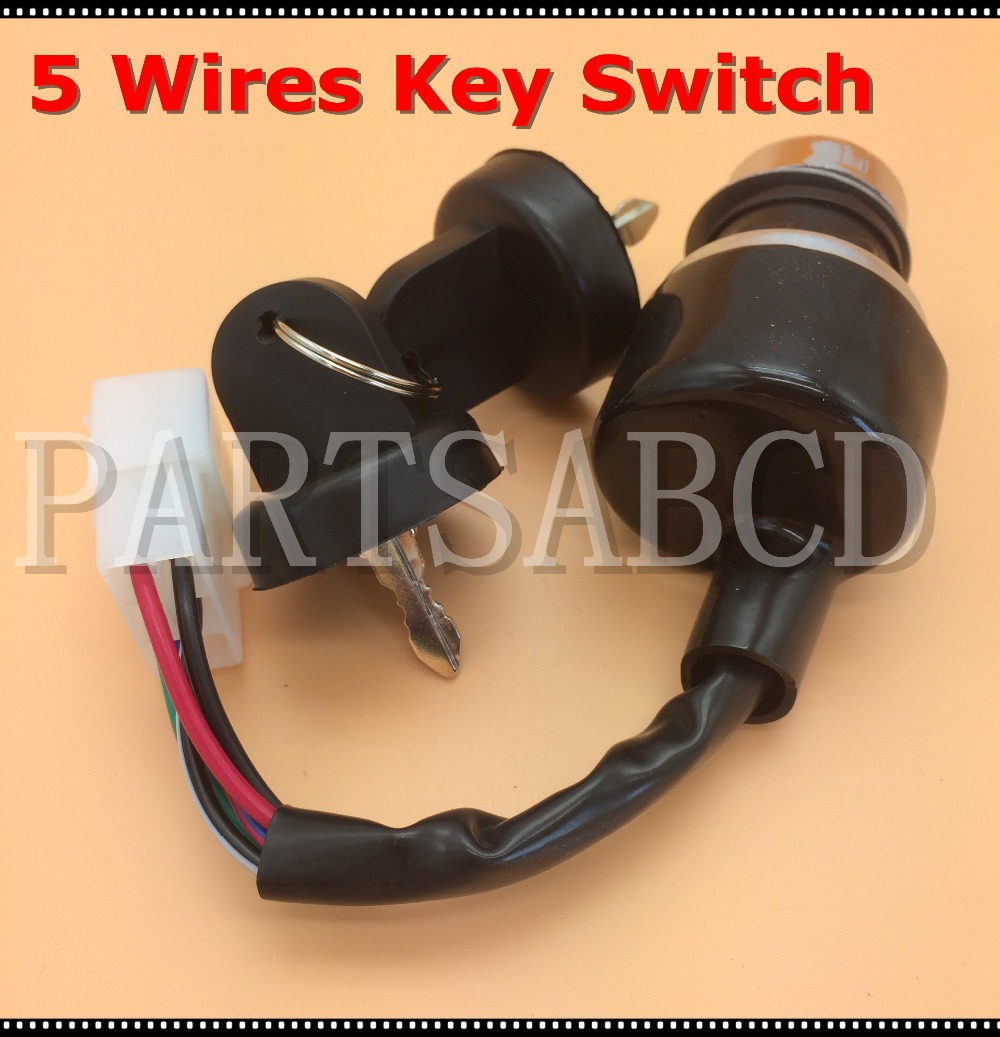 5 Wires Ignition Start Key Switch 50cc 110cc 125cc 150cc 250cc Atv Wiring Quad Go Kart Buggy Parts In Accessories From Automobiles Motorcycles On
