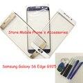 Oem tela de toque digitador de vidro da lente de substituição para samsung galaxy s6 edge g9250 ouro/azul/branco