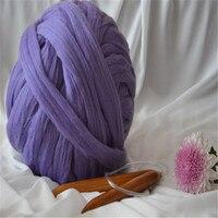 3000g/piece 21 microns merino wool yarn chunky knit blanket yarn gaint yarn