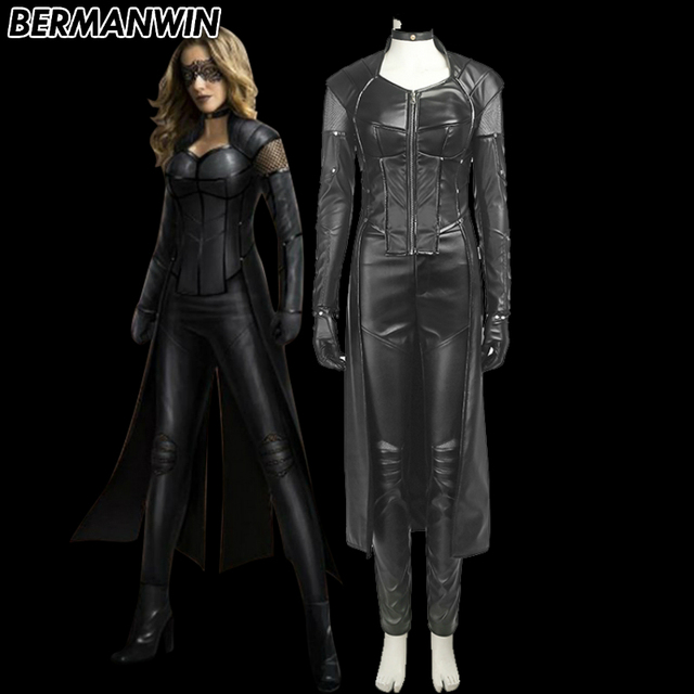 94ab188b0a4 US $118.0 |BERMANWIN High Quality Green Arrow Season 5 Black Canary Costume  Black Siren Costume Black leather full set Cosplay Costume-in Movie & TV ...