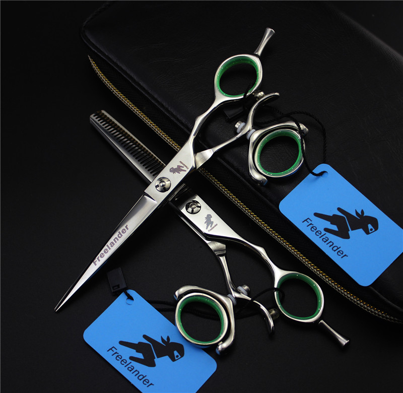 5.5 or 6 in. Professional Hairdressing Scissors,62HRC JP440C,CUTTING SCISSORS and THINNG SCISSOR ,rotating handle,-in Hair Scissors from Beauty & Health    1