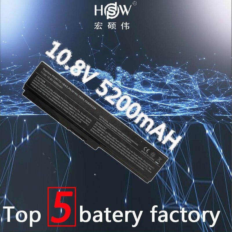 HSW laptop batteri för TOSHIBA PA3817U-1BAS PA3817U-1BRS batteri för laptop L700 L730 L735 L770 L740 L745 L750 batteri L755 L775