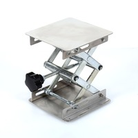 100 100mm Stainless Steel Durable Lab Stand Lifting Platform Folding Desk Laboratory Tool