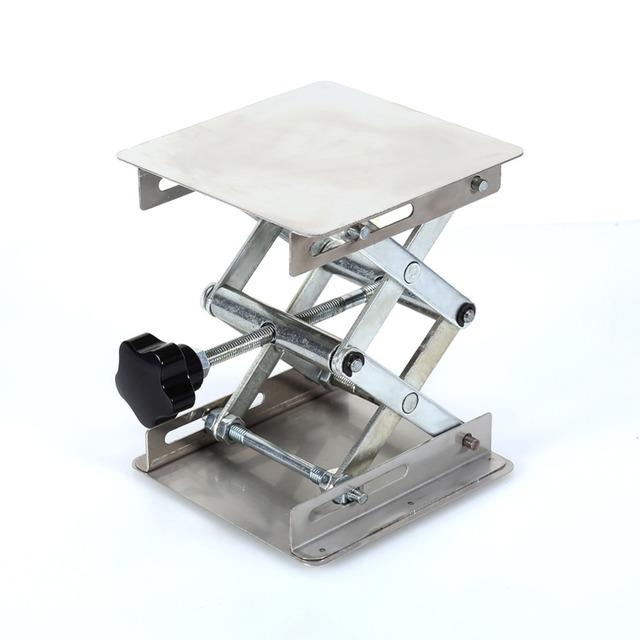 """4 """"x 4"""" 100mm Suporte de Laboratório Laboratório de Plataforma de Elevação de Mesa Dobrável de Aço Inoxidável Ferramenta de Laboratório De Prótese"""
