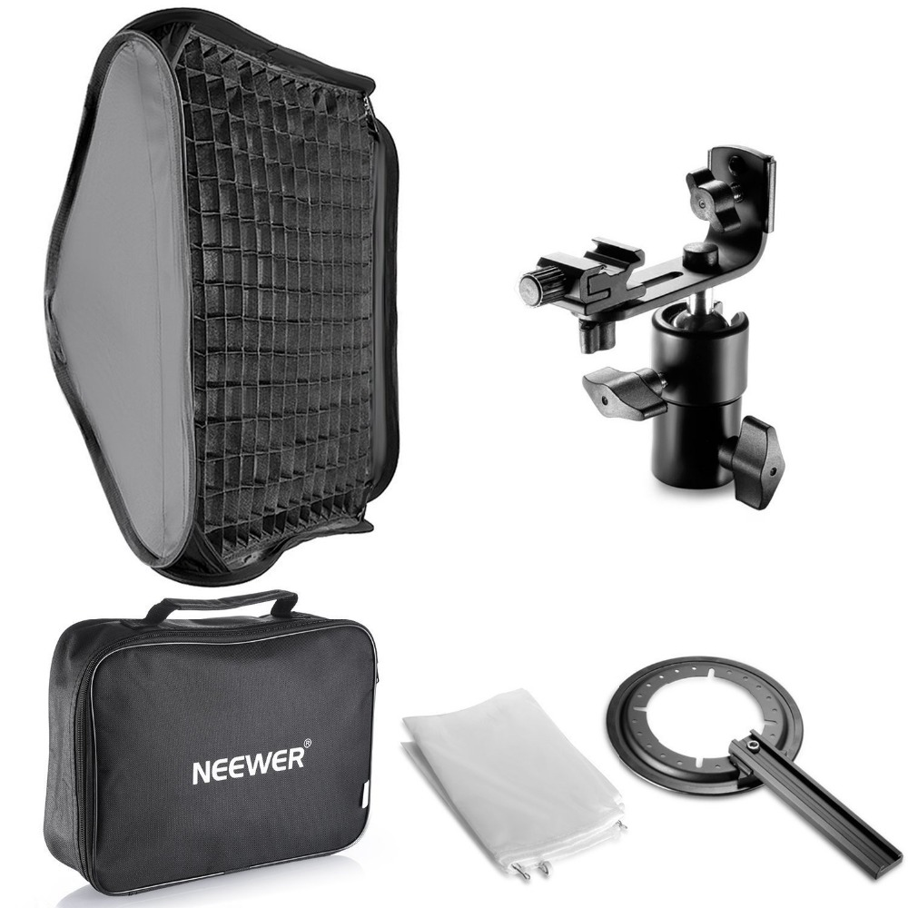 Neewer 24x24/60x60cm Honeycomb Grid Flash Softbox Diffuser with L-type Bracket and Bag for Nikon SB-600,SB-800 Canon 380EX