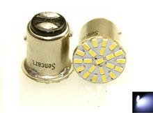 10Pcs LED 1157 BAY15D 22 22-3014SMD  White Fast Strobe Car Steering Blubs (2PCS)