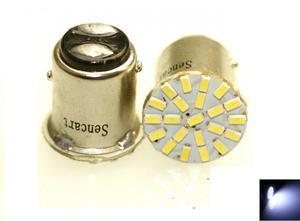 Image 1 - 10Pcs LED 1157 BAY15D 22 LED 22 3014SMD  White Fast Strobe Car Steering Blubs (2PCS)