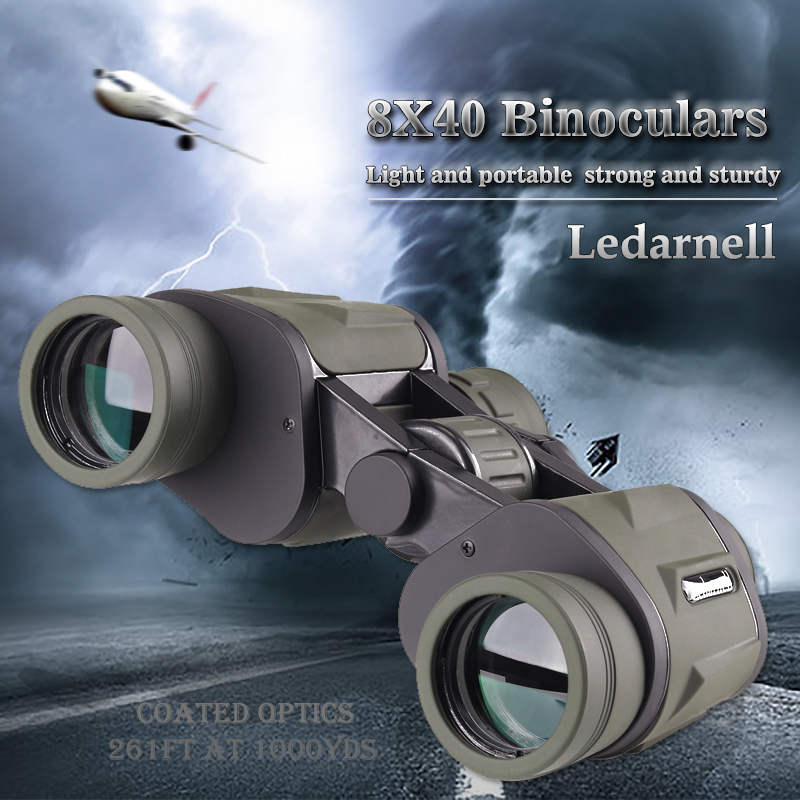 High Power 8X40 HD waterproof BAK4 binoculars font b telescope b font hunting All Optical Binoculars