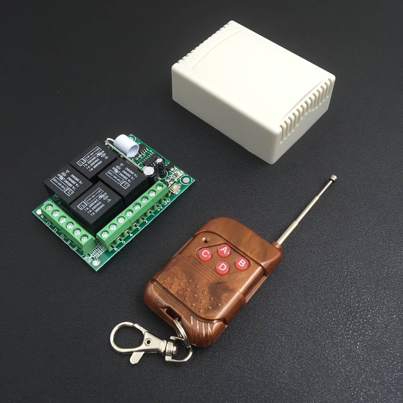 433Mhz Universal Wireless Remote Control Switch DC12V 4CH relay Receiver Module With 4 channel RF Remote