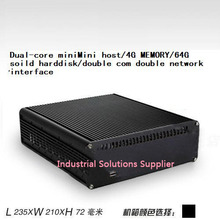 Dual-core dual ethernet port motherboard american 4g ram 60g solid state hard drive mini host