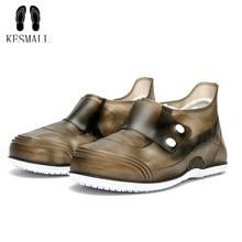 KESMAll Waterproof Shoes Cover For Men Women Non-slip Rain Shoes Cover Shoes Elastic Reusable Rain Boots Overshoes Accessories