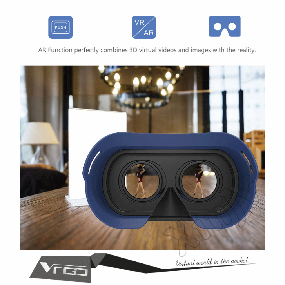RITECH 3 D Casque VR Box Lunette 3D Virtual Reality Glasses Goggles Headset Helmet For Smartphone Smart Vrbox Google Cardboard