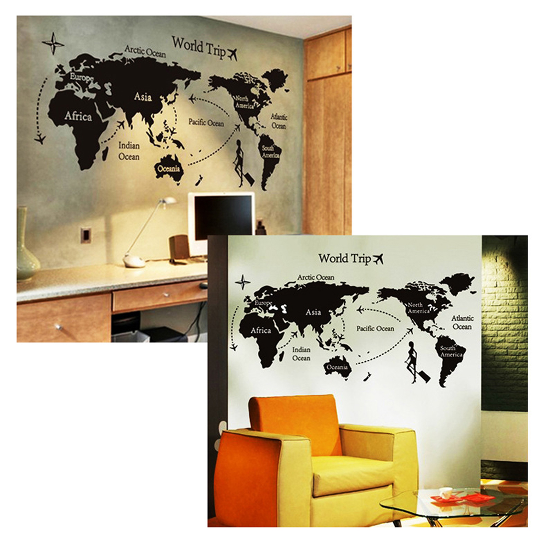 Top 1pc world map personalized vintage travel world map poster 1 x world map gumiabroncs Gallery