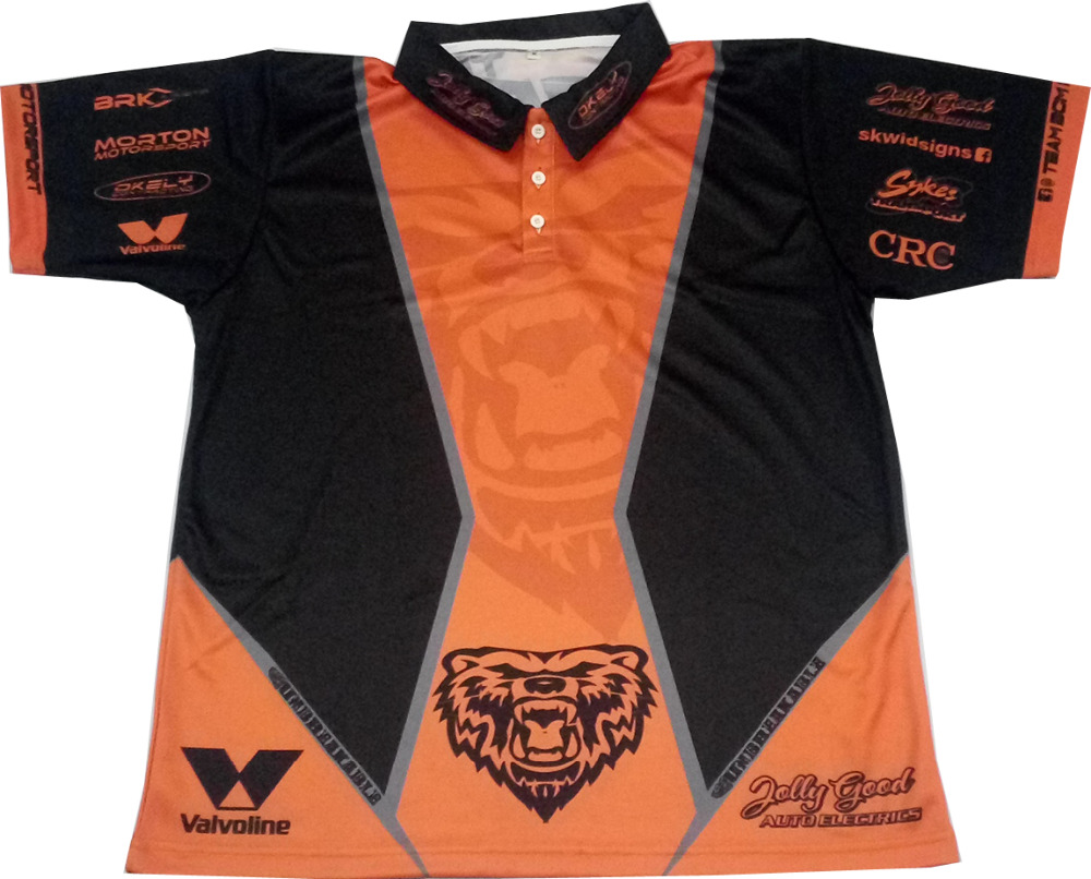 Custom Quick Dry Breathable Polyester Fabric Racing Team Polo Shirts