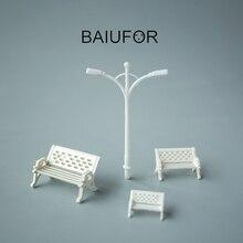 BAIUFOR Figurinhas & Miniaturas, Mini Cadeira Parque Rua Decoração Do Jardim de Fadas Acessórios de Casa de Boneca Modelo de Material de Construção