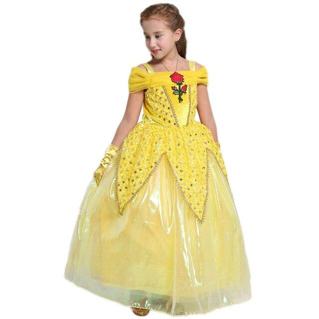 Carnaval Kostuum Kind.Us 12 29 38 Off Carnaval Kostuum Kinderen Meisje Jurk Schoonheid En Beest Cosplay Fancy Belle Prinses Jurk Voor Kerst Halloween Jurk Kind Kleding In