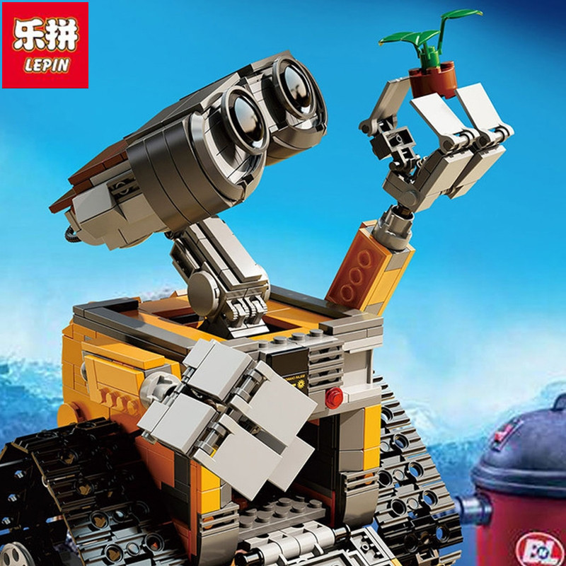 Lepin 687pcs free shipping 2017 New 16003 Idea Robot WALL E Building Set Kits Bricks Blocks Compatible with 2017new lepin16003 idea robot wall e building set kitstoys e kits blocks single sale brickstoystoys for childrenbirthdaygifts