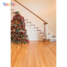 Yeele Photography Backdrops Interior Luxury Staircase Wood Christmas Tree Professional Photographic Backgrounds For Photo Studio