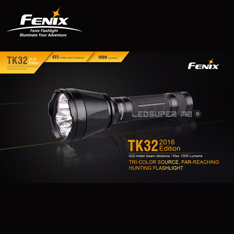 Far-reaching Fenix TK32 1000 Lumens Tri-colour Source Hunting Flashlight With 422-meter Beam Distance