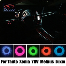 9 М EL Провода Для Daihatsu Танто/Ксения/YRV/Mebius/Luxio/Автомобиль Романтическая Атмосфера Лампы/Украшения Холодный Свет линии