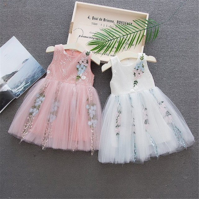 Toddler Baby Girl Dress Floral Gown for Girls Tulle Causal Birthday Party  Sundress Clothes vestido  YL e9d0a5346477