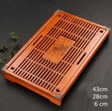 Chinesische Traditionelle Holz Tablett Holz Teetisch Tee Meer Set, Kung fu tee werkzeuge für tasse und teekanne handwerk tablett 43*28*6 cm