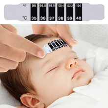 Freeshipping Baby Kids Forehead Strip Head Thermometer Fever Body Temperature Test 8.8cm*1.5cm smart watch screen protector(China)