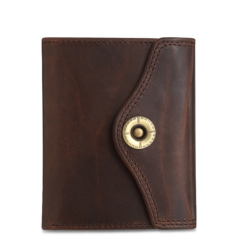 Weduoduo New Men Wallet 100 Genuine Leather Casual Credit Card Holder Luxury Card Wallet Short Hasp Men Women Purse in Wallets from Luggage Bags