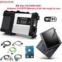 Звезда C5 сканер с HDD/SSD V09.2018 более программное обеспечение и ноутбук X200t PC Поддержка Wi Fi для MB автомобилей диагностический C5 SD подключения