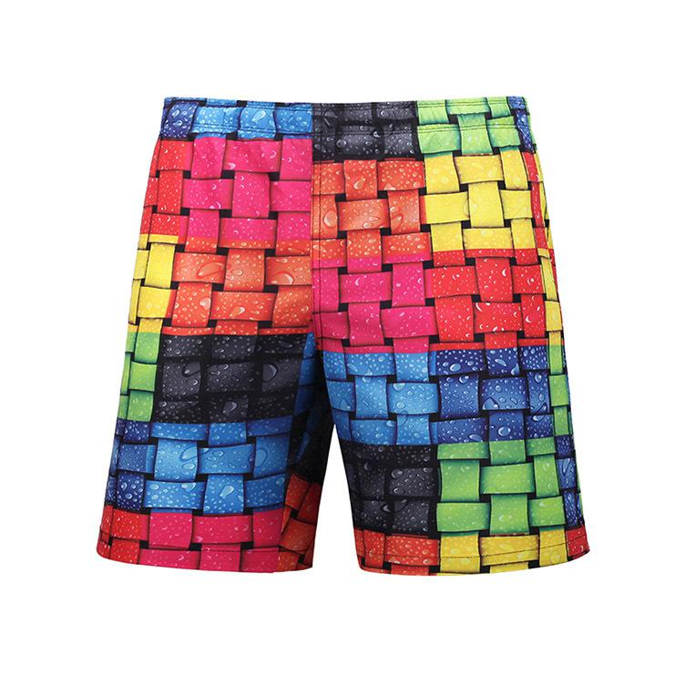 2019 summer Brand   Board     Shorts   grid print Mens Beach Swimwear Swim   Short   Trunk Bermudas Man Boardshorts Male Sweatpants