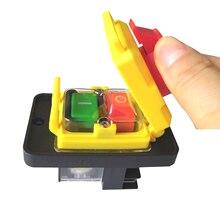 KEDU KJD12 14 Interruptor de botón de liberación de 250V, 6 pines, Start Stop, sin voltios, común a máquinas de carpintería y metalúrgicas