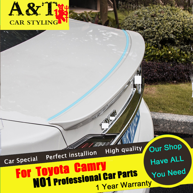 цена на A&T For Toyota Camry Spoiler car styling 2015-2016 For Camry not need to paint the tail punch dedicated tail back tail paint Car