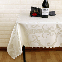 Home Decor All Size Embroidered Jacquard Rectangular Tablecloth Round Wedding For Party Banquet Hotel Dining Tableclothes