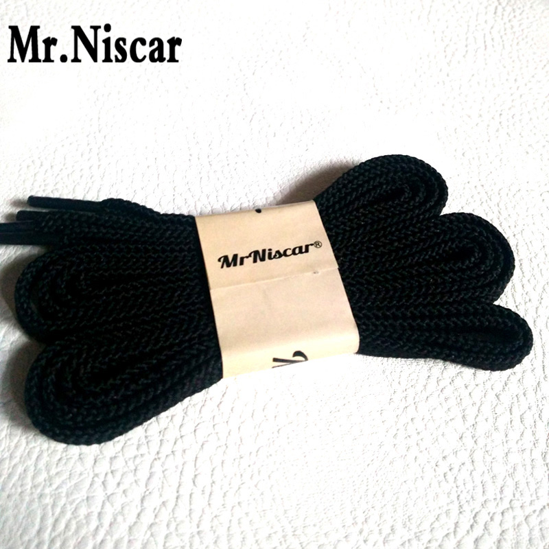 Mr.Niscar 1 Pair High Quality Brand Flat Shoelaces for Casual Sneaker Long 100cm 120cm 140cm 160cm 180cm Black Shoe Laces String high quality 1 pair right