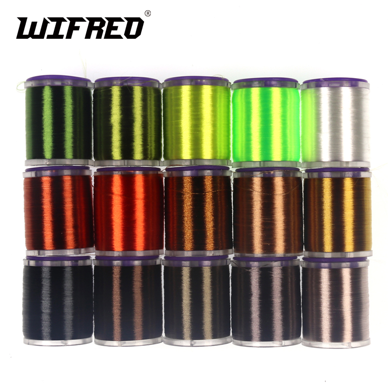 Wifreo 75D Fine High Tensile Fly Tying Thread With Standard Bobbin Spool Waxed Tying Thread For Nymph Dry Wet Flies цена