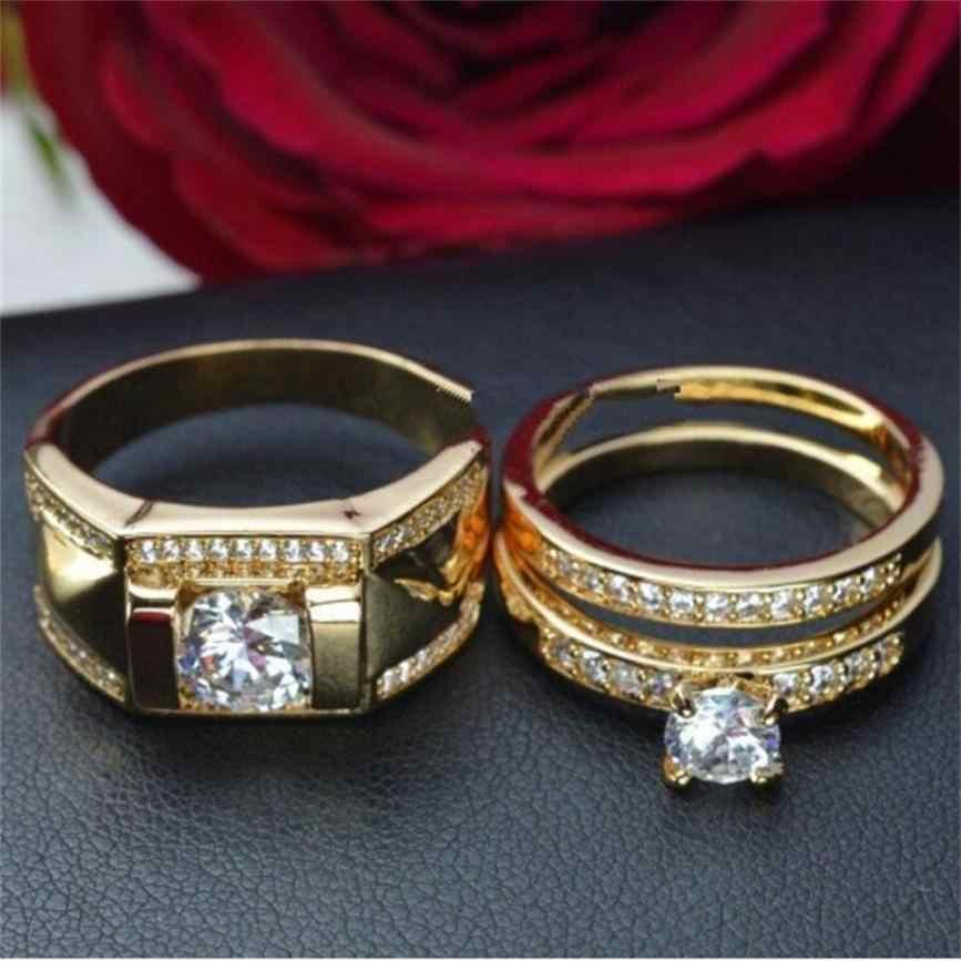 男性の女性のリング婚約婚約指輪ジュエリー幾何タイプロマンチックなリングバレンタインのギフトの宝石の装飾品 Anillos