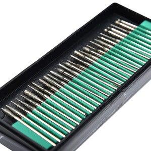 Image 5 - Herramientas rotativas Dremel, Mini brocas de diamante, rueda de molienda, vástago abrasivo, grabado de piedra de madera, herramientas eléctricas, 30 Uds. 2,35mm