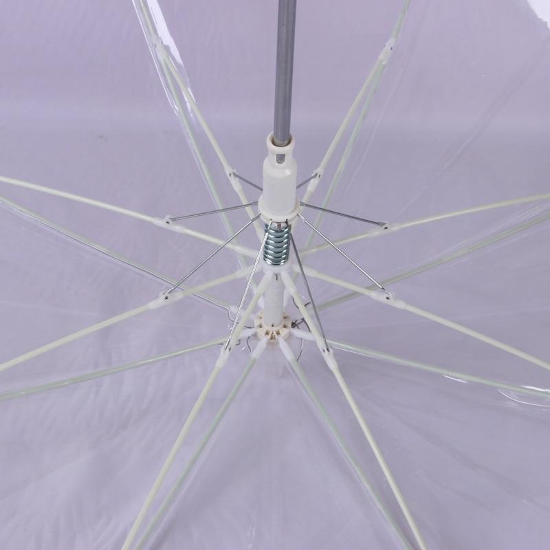 Image 3 - LED Light Transparent Unbrella For Environmental Gift Shining Glowing Umbrellas Party Activity props Long Handle Umbrellas-in Umbrellas from Home & Garden