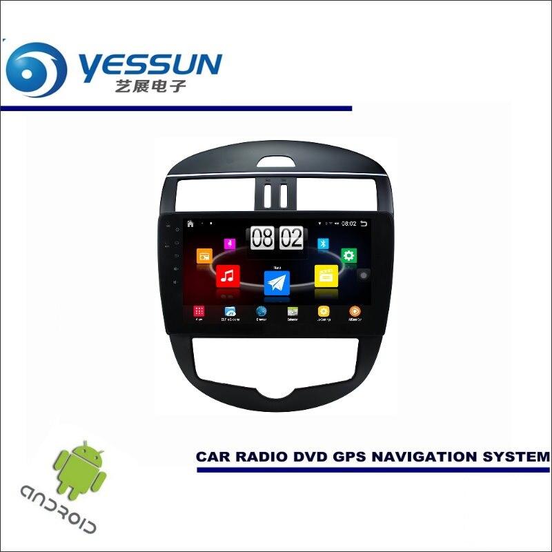 YESSUN Car Android Player Multimedia For Nissan Tiida 2011~2016 Radio Stereo GPS Nav Navi Navigation (no CD DVD ) 10 HD Screen