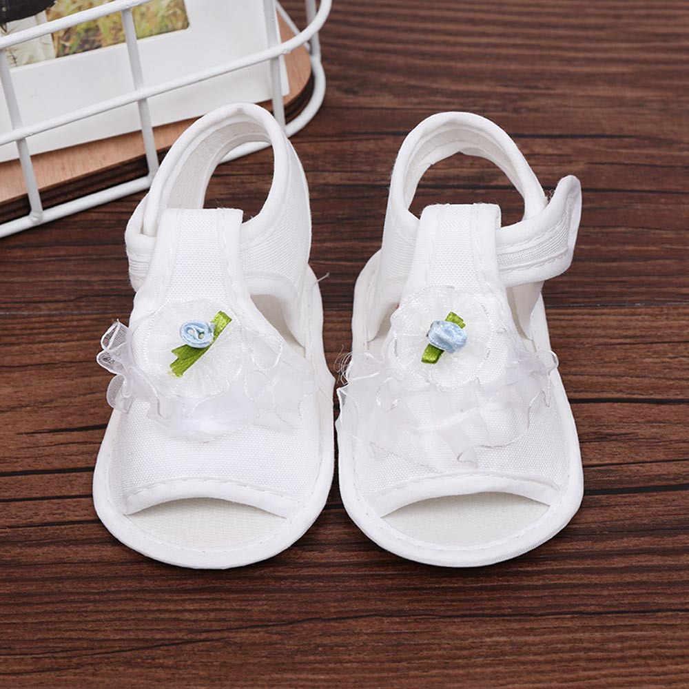 2019 zapatos de cuna para bebé recién nacido, zapatos antideslizantes de suela suave, zapatos antideslizantes de flores # 20Z