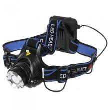 1PCS XM-L XML T6 2000 LM LED Headlamp Headlight Flashlight Head Lamp Light AA Battery Camping Hunting 3 Modes 6V Headlamp