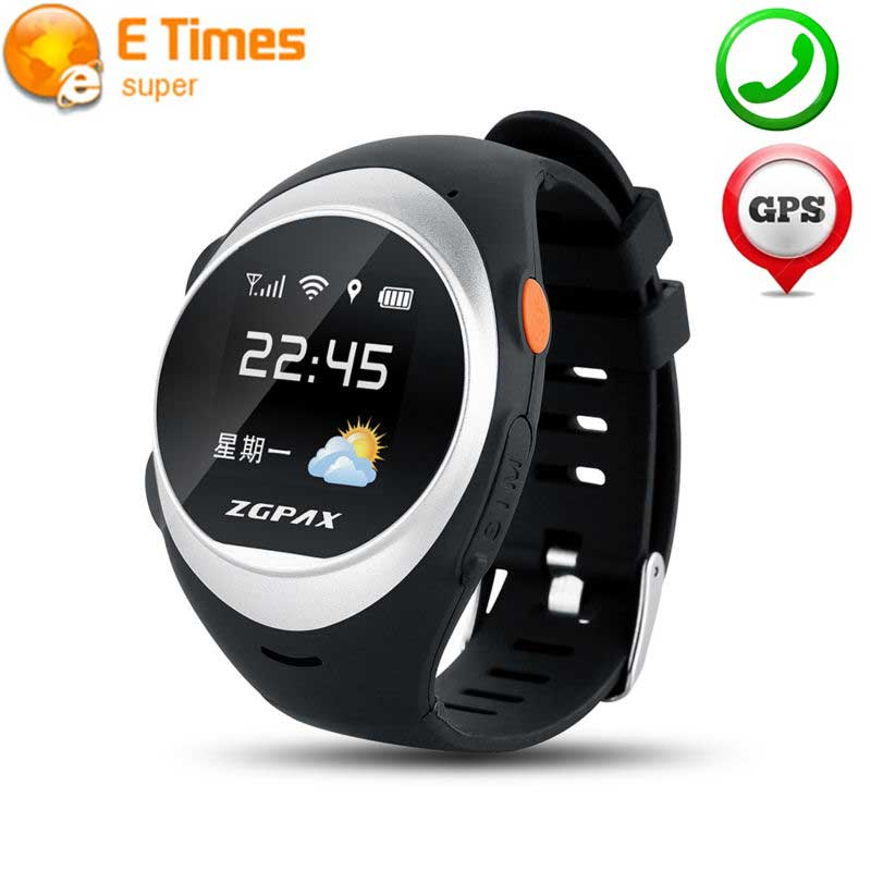 ZGPAX S888 Bluetooth WiFi Reloj Inteligente Impermeable Viejo Niño anti-perdida
