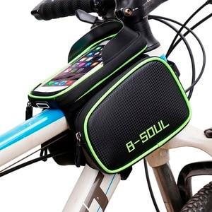 Велосипедная сумка для телефона с сенсорным экраном 6,2 дюйма, водонепроницаемая велосипедная сумка для телефона