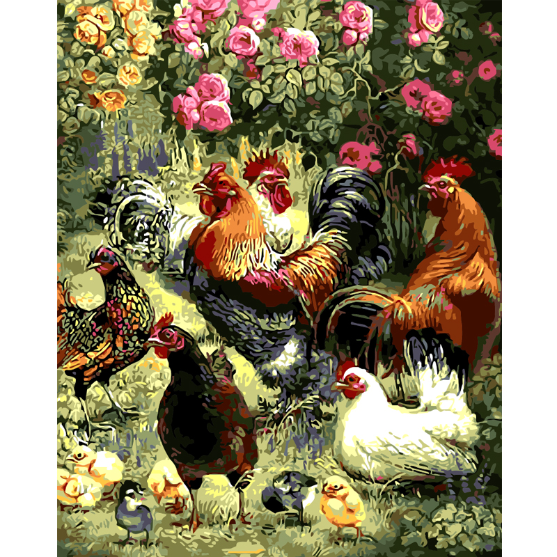 Home Decor Wall Art Animal Pictures For Living Room Oil