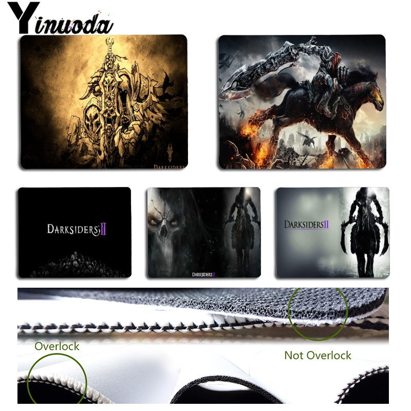 Yinuoda Beautiful Anime Darksiders2 and Wrath of War Office Mice Gamer Soft Mouse Pad Size for 18x22cm 25x29cm Small Mousepad