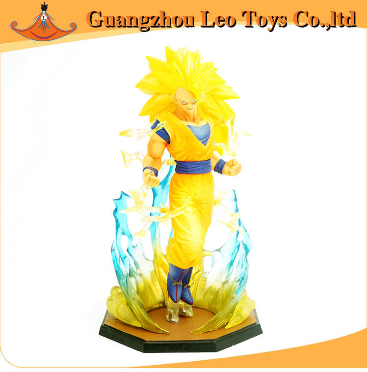 Honest Leo Toys 18cm Box Figuarts Zero Super Saiyan 3 Son Goku Pvc Action Figures Dragon Ball Z Collection Model Dbz Clear-Cut Texture Action & Toy Figures