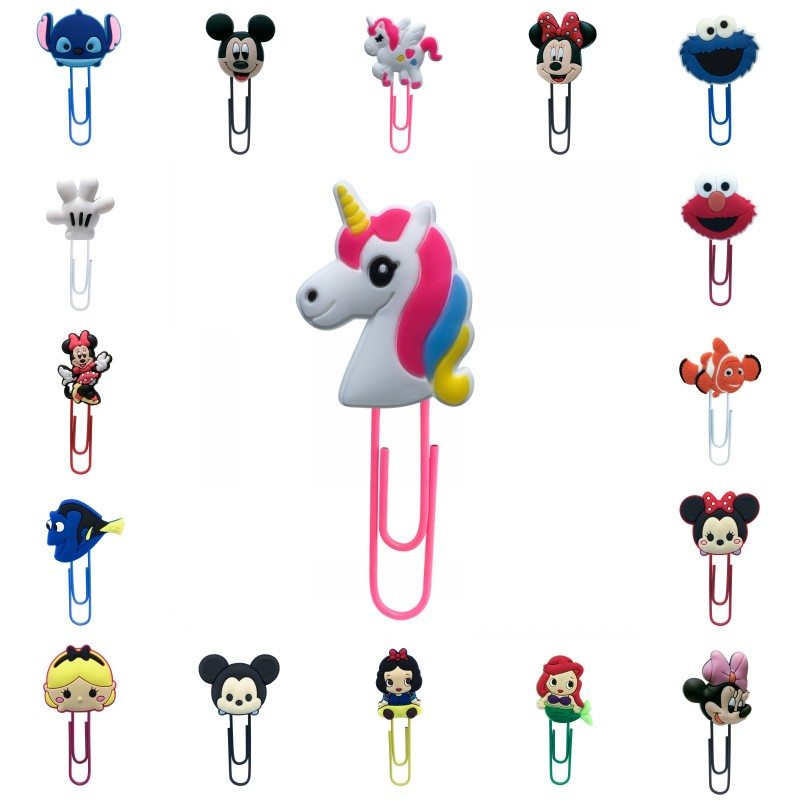 1pcs Cartoon Bookmarks For Kids Mickey Unicorns Sesame Street Anime Book Mark Paper Clips School Office Supply Kids Gift