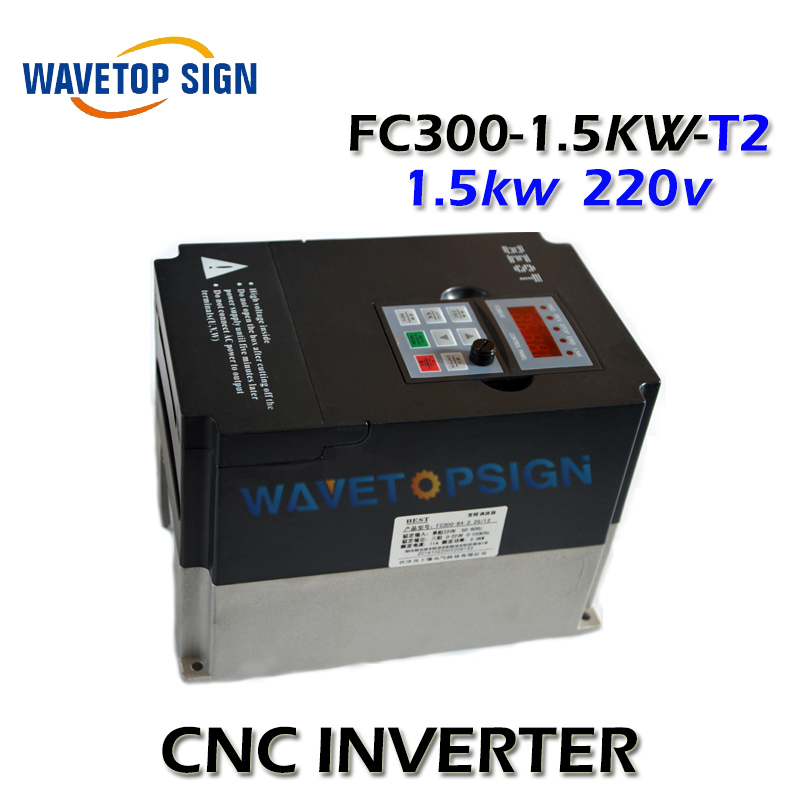 best inverter 1.5kw cnc router   inverter FC300-1.5KW-T2 single phase AC 220v  current is 7A match with 1.5kw spindle fc 051p1k5s2e20h3bxcxxxsxxx inverter